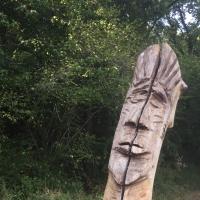 totem,visage,statue,