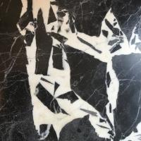 marbre,noir,blanc,