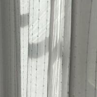 rideau,blanc,