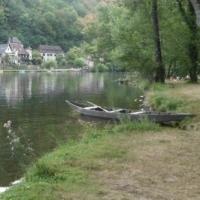 rivière,barque,