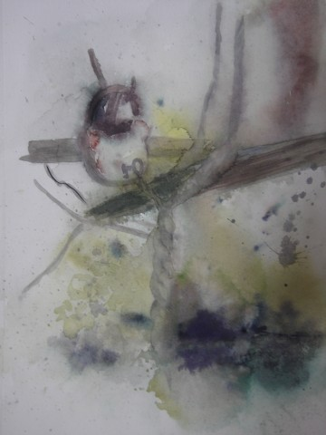 oiseau,aquarelle,