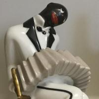 accordéon,accordéoniste,céramique,