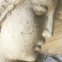 ange,marbre,statue,