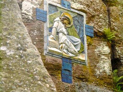 mont sainte odile,léon elchinger,chemin de croix,