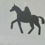 panneau,sortie de chevaux,