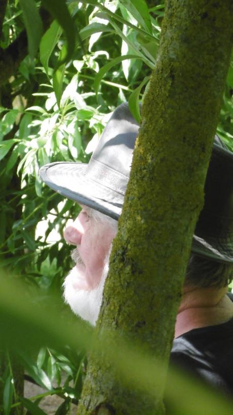 alain helissen,cabane,feuilles,jardin mosaïque,