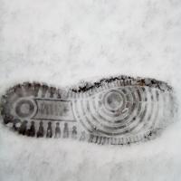 semelle,neige,trace,
