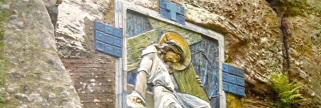 calvaire,chemin de croix, mont sainte odile,