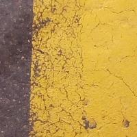 bande,route,jaune,