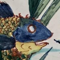 poisson,rivière,or,