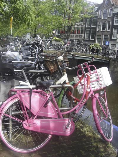 vélo,rose,