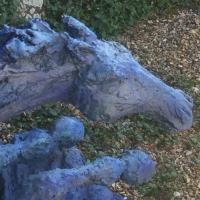 cheval,bleu,cavalcade,